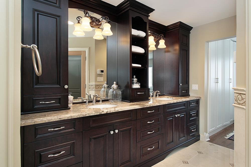 self-installing bathroom vanities
