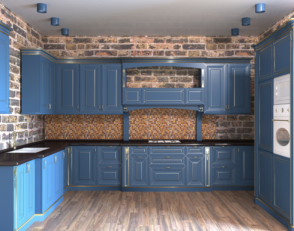 incorporating blue kitchen cabinets