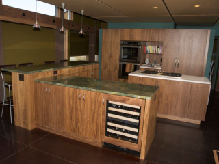 modern cabinets with wine cellar