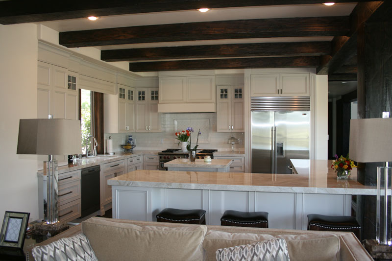 white framed cabinets