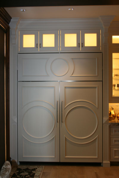 circular styled cabinets