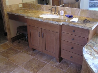 vanity with seat space