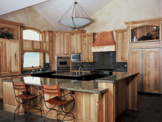 light wood cabinets