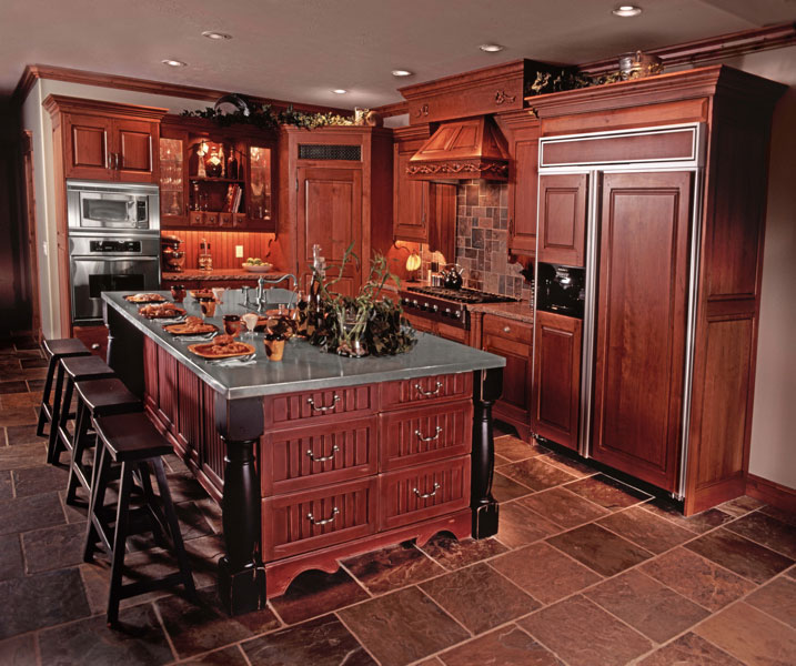 cherry wood kitchen