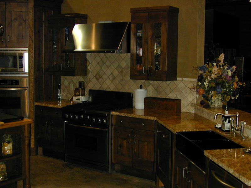 traditional styled kitchen