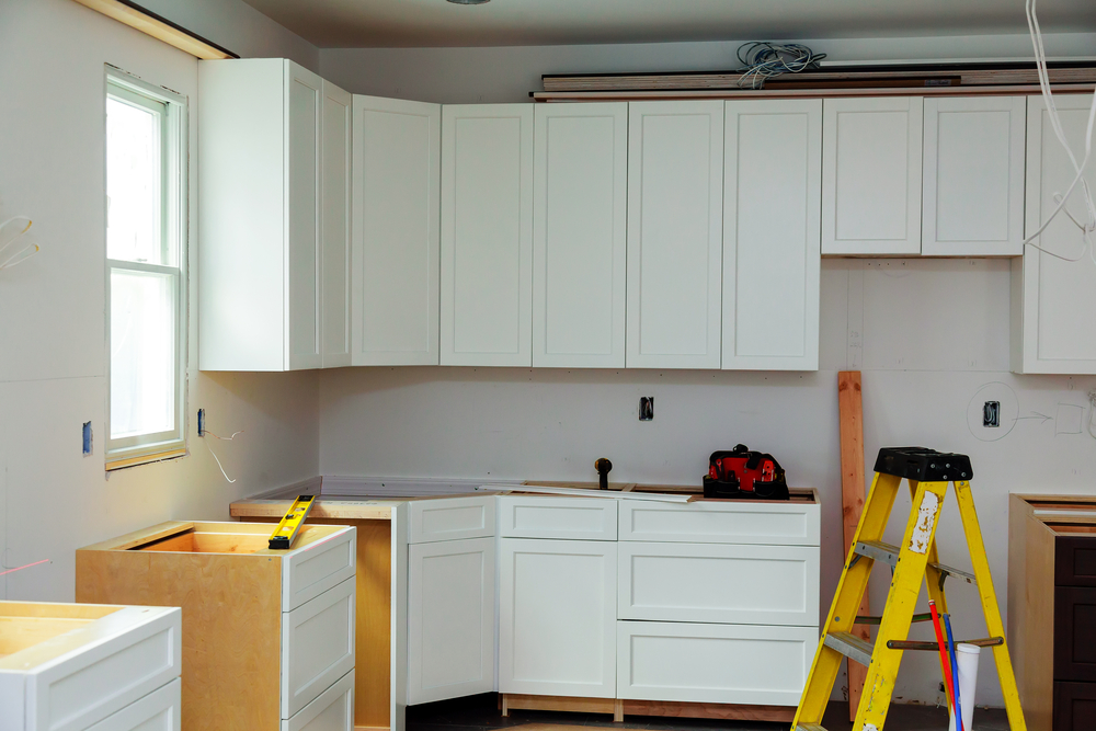 space storage cabinet installation